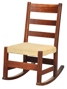 L. & G.J. Stickley Arts and Crafts Rocking Chair
