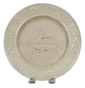 Staffordshire Creamware Plate with Eagle