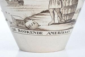 DE ROOKENDE AMERIKANN Ceramic Tobacco Jar