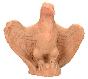 Terracotta Perched Eagle