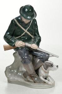 Royal Copenhagen Porcelain Figure of a Huntsman