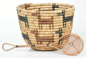 Coiled Hopi Polychromed Basket