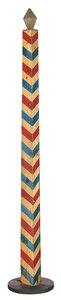 Vintage Paint Decorated Barber Pole