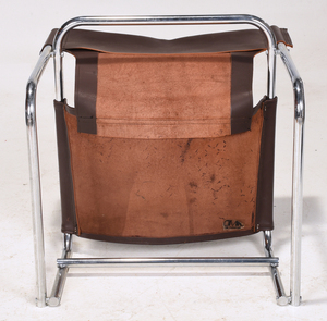 Modern Chrome and Leather Chair