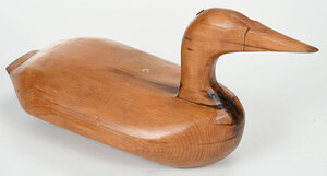 Five Carved Painted and Stained Wood Decoys