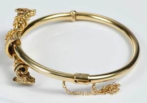 14kt. Rams Head Bracelet