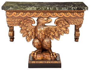 George III Style Eagle Carved Console Table