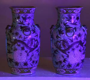 Pair Chinese Dayazhai Style Dragon Vases