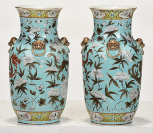 Pair Chinese Dayazhai Style Dragon Vases