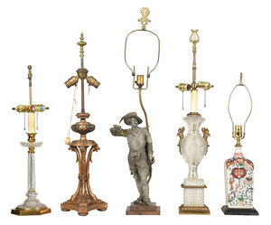 Group of Five Table Lamps