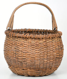 Wicker Basket with Bail Handle
