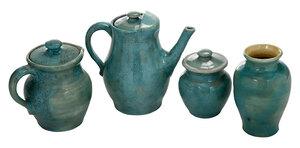 Four Pieces Pisgah Forest Pottery
