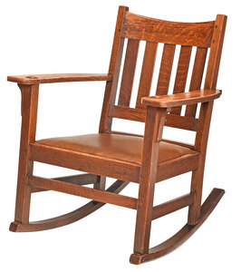 Limbert Arts and Crafts Oak Rocking Chair