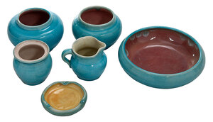 Six Pieces Pisgah Forest Pottery