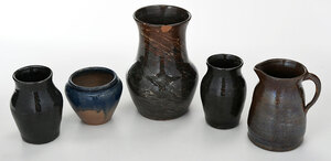 Five Pieces Southern Pottery