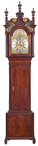 George III Eglomise Chiming Tall Case Clock