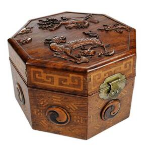 Chinese Carved and Inlaid Box