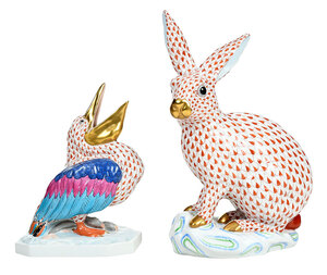 Two Herend Animal Figures