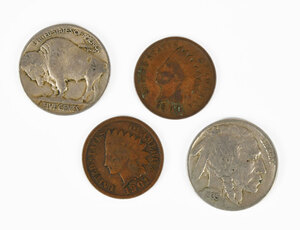 Group of U.S. Nickels and Cents