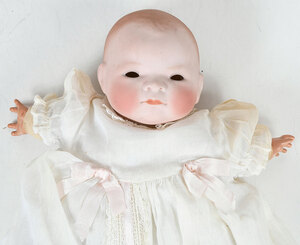 French Jumeau Bisque Head Doll, German Baby Doll