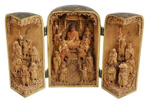 Japanese Lacquered and Gilt Traveling Shrine
