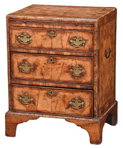 George I Style Oyster Veneered Bachelor's Chest