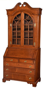 Rare North Carolina Chippendale Desk and Bookcase