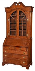 Rare North Carolina Chippendale Desk and Bookcase