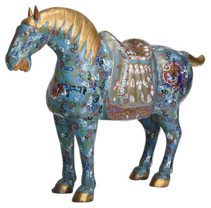 Large Chinese Cloisonne Horse