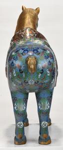 Large Chinese Cloisonne Horse