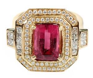 14kt. Tourmaline and Diamond Ring