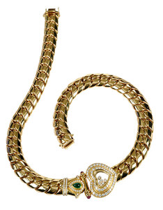 Chopard Happy 18kt. Gemstone & Diamond Necklace