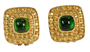 Elizabeth Locke 18kt. Gemstone Earrings