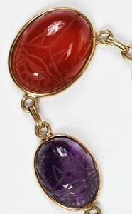 14kt. Scarab Necklace