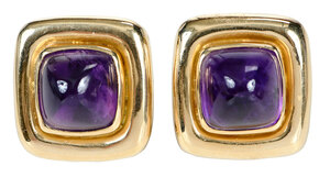 18kt. Amethyst Earrings