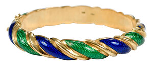 18kt. Enamel Bangle