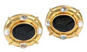 Elizabeth Locke 18kt. Gemstone Earrings
