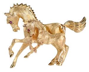 14kt. Horse Brooch