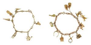 Two 14kt. Charm Bracelets