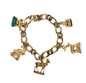 14kt. Bracelet with Charms/Seals