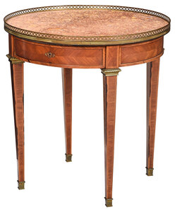 Louis XVI Style Marble Top Bouillotte Table