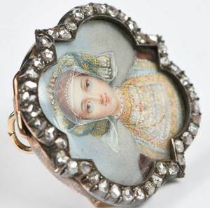 Antique 14kt. Diamond Brooch/Pendant