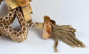 Antique 14kt. Enamel Mesh Bracelet