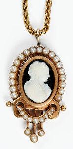 Antique 14kt. Cameo Necklace
