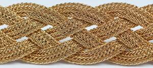 14kt. Woven Necklace, Earring and Bracelet Set