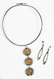 Danish Silver Necklace and Earring Set