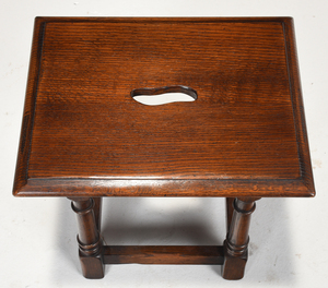 William and Mary Style Oak Joint Stool
