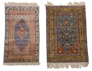 Two Silk Rugs