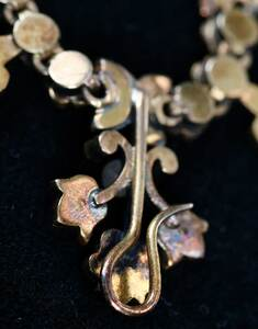 Antique Gold, Seed Pearl and Diamond Necklace