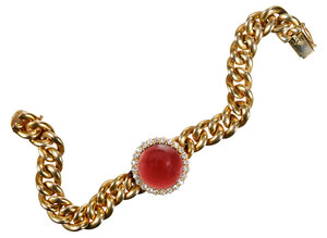 Antique Gold, Garnet & Diamond Bracelet